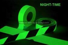 Antislip tape fotoluminiscerend 50mm tot 200mm/18m - 2 kleuren