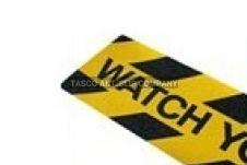 Antislip rechthoekige -Watch your step- tape 150mm x 610mm (5 pack)